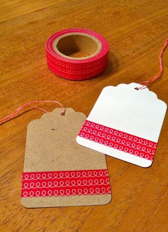 Washi Tape rood met krullen