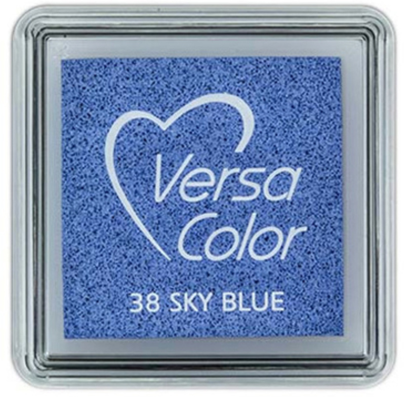Versa Color Stempelkussen sky blue