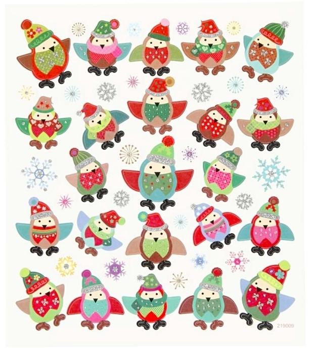 Stickers Winter Uilen