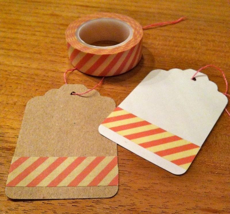 Washi Tape Diagonaal Roze/Zacht Geel