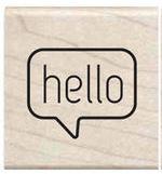 Stempel Hello - tekstballon
