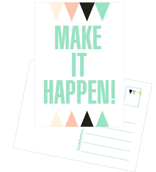 Postcard Make it Happen!