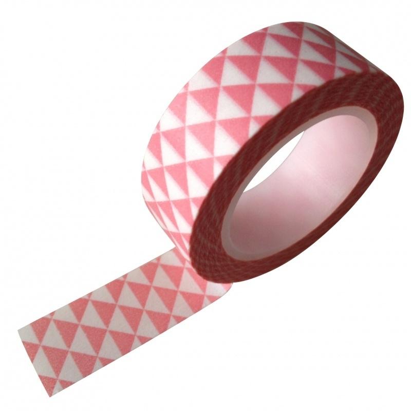 Washi Tape grafische driehoek roze