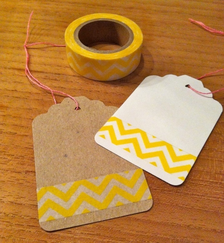 Washi Tape Chevron Geel