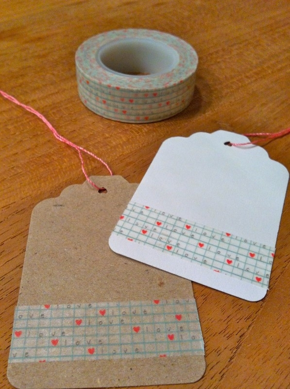 Washi Tape ruitje, hartje, love
