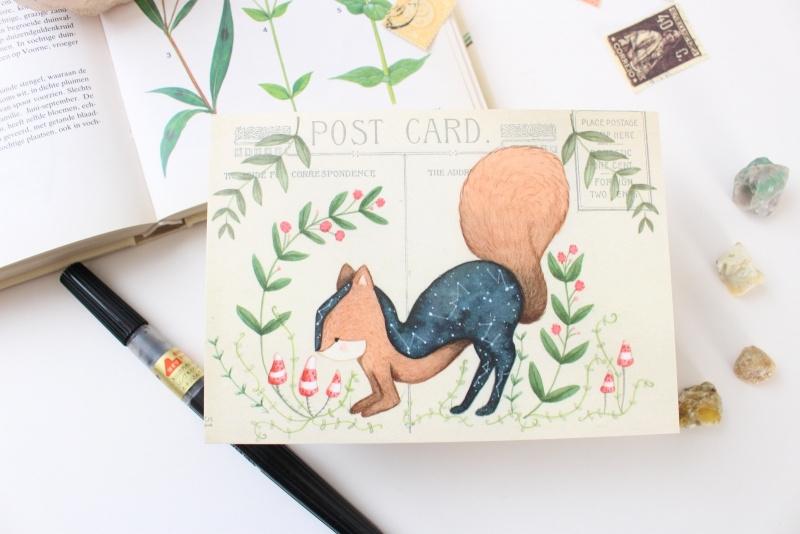 Ansichtkaart Eekhoorn met enveloppe