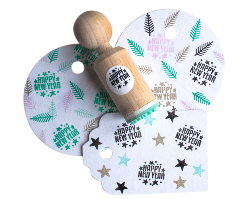 Miss Honeybird Mini Stempel Happy New Year