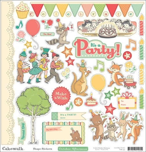 October Afternoon Shape Stickers Cakewalk