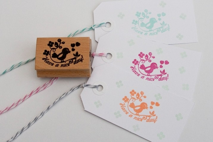 Miss Honeybird Stempel Have a Nice Day (vogel)