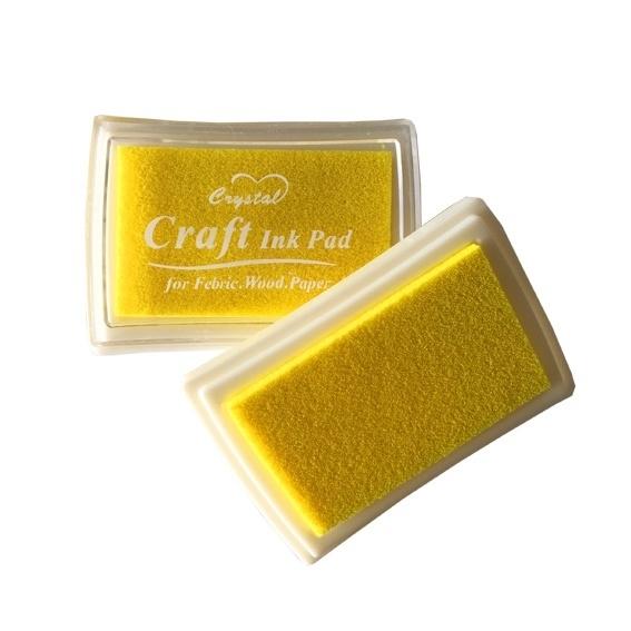 Crystal Craft Stempelkussen Geel