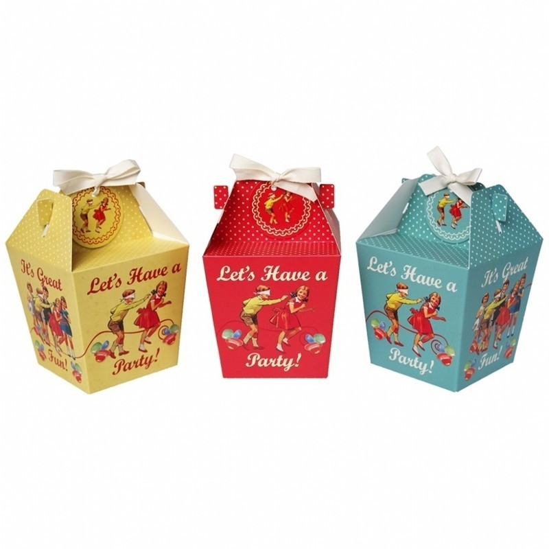 Party boxes Vintage (set van 3)