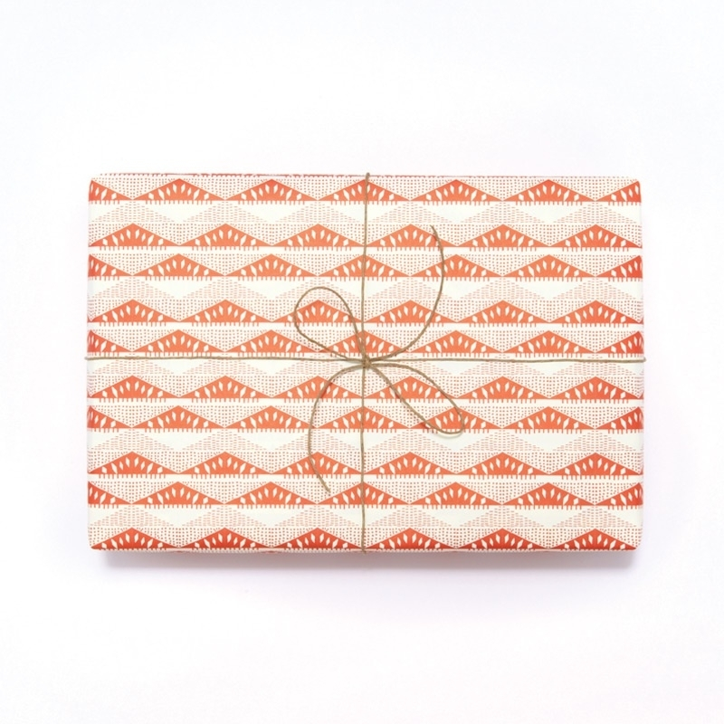 Inpak-/cadeaupapier Esme Winter - Esker rood