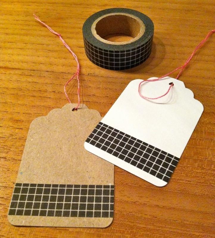 Washi Tape Ruitje Zwart