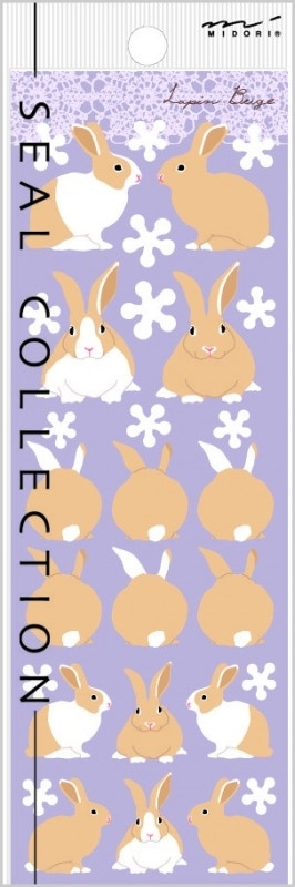 Stickers Lapin Beige