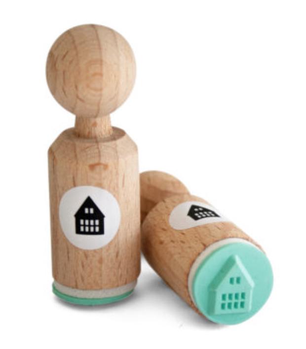 Miss Honeybird Mini Stempel Huisje met ramen
