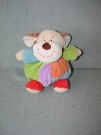 H-579  Eddy Toys bol hondje - 17 cm