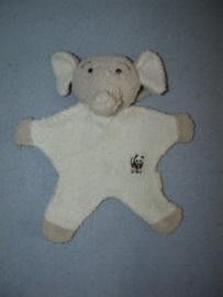 KP-341  Anna Club Plush/WWF kroeldoekje olifant, badstof