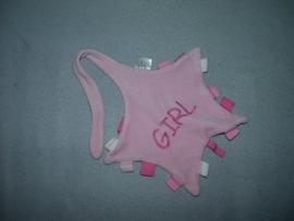 PS-1136  VIB (Very Important Baby) labeldoekje Girl