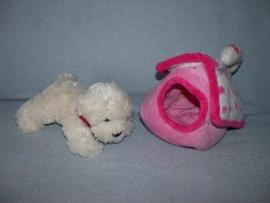 H-813  Keel Toys hond in hokje/tasje