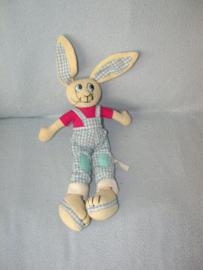 K-1346  Hema konijn met tuinbroek - 36 cm