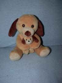 H-923  Zeeman hond met kleintje - 20 cm