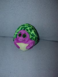 QZ-974  Ty Beanie Ballz schildpad Tiki - 12 cm