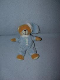 B-1733  Koppen.com beertje met pyjama en slaapmuts - 22 cm