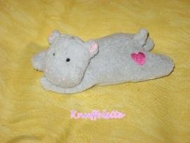 KP-422 Liggend nijlpaardje - Unitoys? - 14 cm