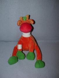 AJ-1297  Happy Horse giraffe met verband om poot en nek - 23 cm