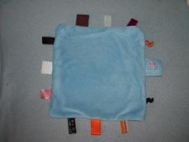 PS-1003  Snoozebaby labeldoekje, langere velours/tricot