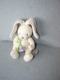 K-451  Anna Club Plush konijntje met bloem - 12 cm