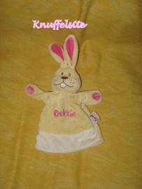 K-487  Bengy handpop konijn Oekkie - 22 cm