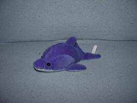 AJ-1149  Happy Tails dolfijn - 17 cm