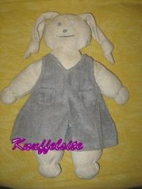 K-614  Egmont Toys konijn met tuinbroek - 36 cm