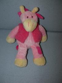 AJ-492  Eddy Toys giraffe met vest - 29 cm