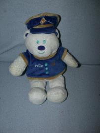 B-1604  Politie Zorg Polis / IXO Concept beer met politie-uniform - 26 cm