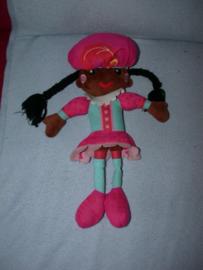 PS-1099  Kids Commotions Zwarte Piet meisje - 40 cm