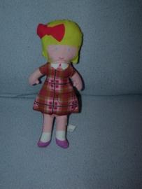PS-1156  Hema popje meisje - 25 cm