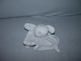 K-1368  Feetje kroeldoekje konijn, lichtblauw