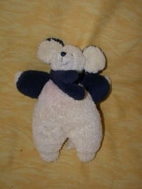 M-198  Indigo muisje met sjaaltje - 20 cm
