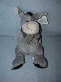 AJ-1073  Gloednieuw! Toys ezel - 29 cm