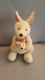 KP-1914  Baby Planet kangaroe met kleintje - 21 cm