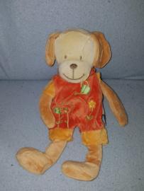 H-05  Nicotoy hond met kleren - 30 cm