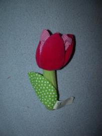 AJ-1147  Hema rammelaar tulp / bloem - 15 cm