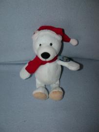 B-1684  Gloednieuw! Kinder/Ferrero ijsbeer Enno met kerstmuts - 25 cm