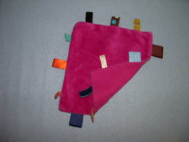 PS-1154  Snoozebaby labeldoekje, velours/tricot