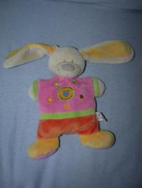 K-1391  Nicotoy plat konijn - 24 cm