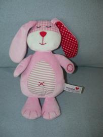 K-1232  Prenatal konijn Mix-Match, gestreepte buik - 28 cm