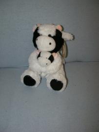 KP-1674  Gloednieuw! Nicotoy koe met kleintje - 22 cm