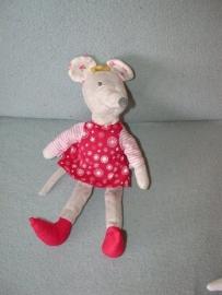 M-364  Ikea muis Fabler Mus met katoenen kleertjes - 28 cm